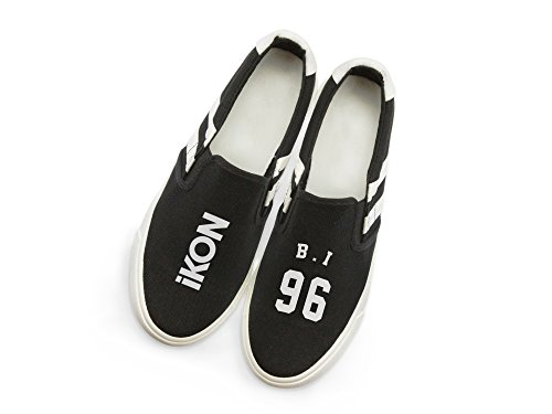 Kpop B Canvas lomo Memeber Card Style IKON Support with Fanshion Sneakers Hiphop Fan i Fanstown Shoes UgB6qBw