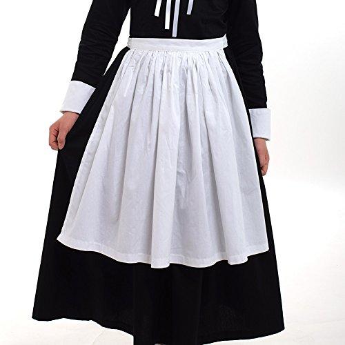 GRACEART Pilgrim Pioneer Colonial Girl Costume Accessories 100% Cotton Apron & Bonnet (US Size-06,Bonnet & Apron) by GRACEART (Image #2)