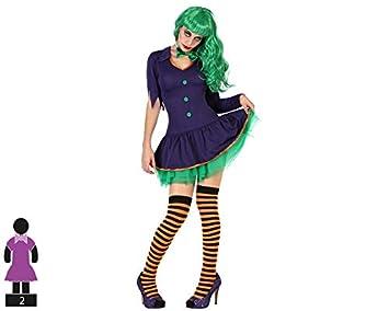 Atosa-57675 Atosa-57675-Disfraz Payasa para Mujer Adulto-Talla ...