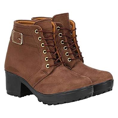 Commander Girl's Brown Boots-7 Kids UK