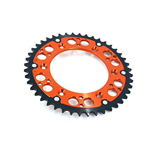 - 44T-52T CNC Rear Chain Sprocket Steel and Aluminum For KTM 125-600 all models off road Motorcycle (46 teeth)