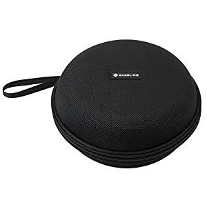 Caseling Hard Headphone Case Travel Bag for Audio-Technica ATH M50-M40 , Sony, Panasonic, Xo Vision, Behringer, Maxell, Bose, Photive, Philips, Beats and More. Black.