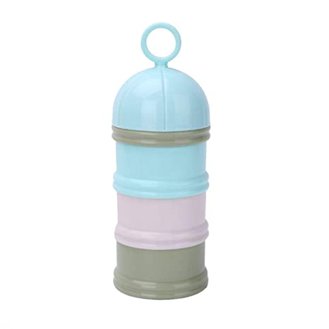 Caja de leche en polvo Envase portátil del dispensador de la leche en polvo, caja