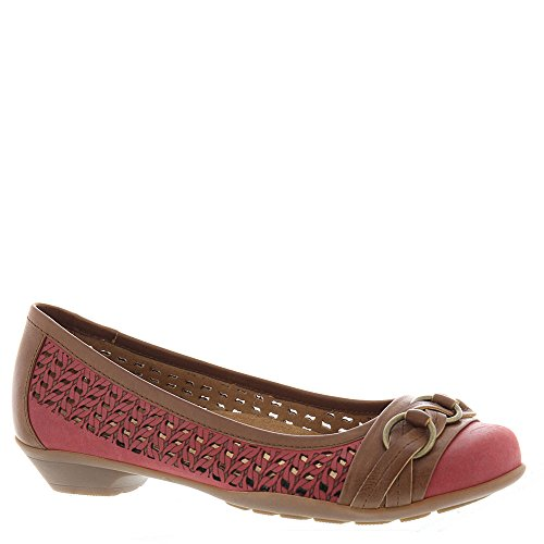 (softspots Posie Laser Women's Pump 6.5 B(M) US Red-Teak)