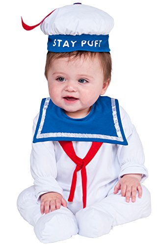 [Rubie's Costume Co. Baby Ghostbusters Classic Stay Puft Romper, As Shown, 6-12] (Classic Halloween Costumes 2016)