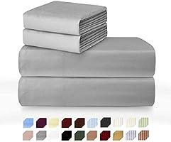 Millenium Linen Bed Sheet Set - 1600 Series 3 Piece - Deep Pocket - Cool & Wrinkle Free - 1 Fitted, 1 Flat, 1 Pillow Case
