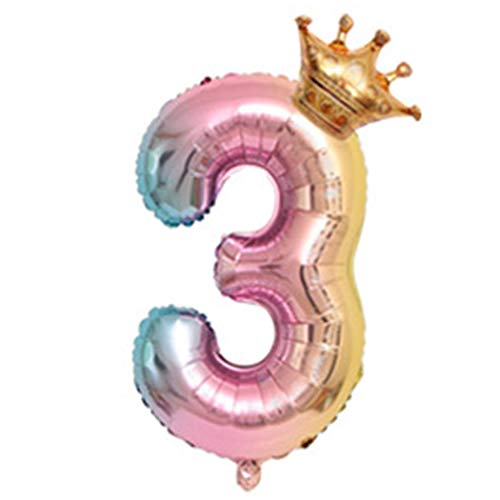 kentew Number Crown Shape Children Aluminum Balloon Decoration for Birthday Party Balloons from kentew