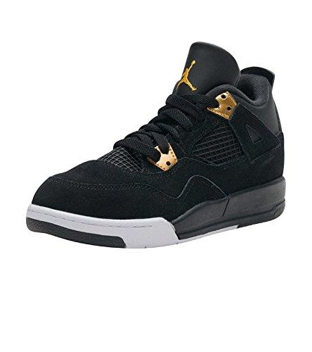 053c2ef692a6 Galleon - Jordan 4 Retro BP Little Kid s Shoes Black Metallic Gold White  308499-032 (12 M US)