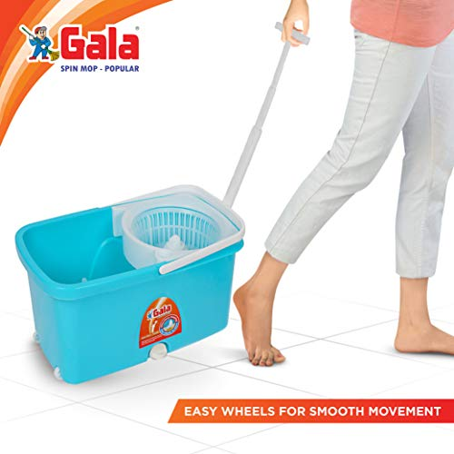 Gala Popular Spin Mop With easy wheels long handle microfibre refill and water outlet buy at best price deals offers and discounts