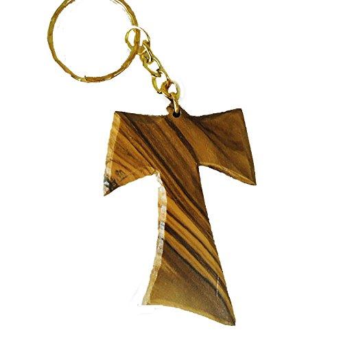 Llavero de madera de olivo Franciscano Tau TAO cruz ...
