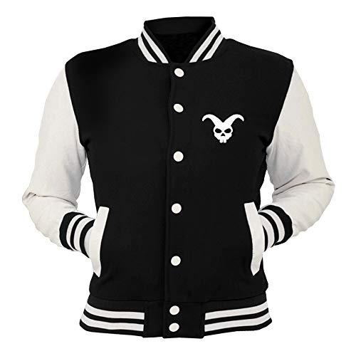 Skull Joker Giacca College Fun2222 shirtshock Nera T Bunny HUq0w1x