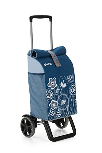 GIMI Shopping Trolley - Rolling Thermo Blue, Floral, Blue