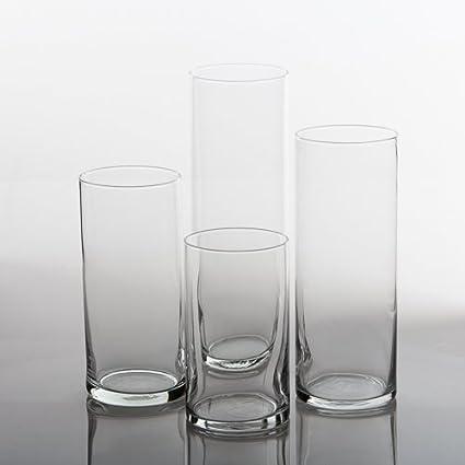 Amazon Eastland Glass Cylinder Vases Set Of 4 Arts Crafts