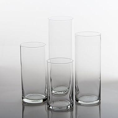 Eastland Glass Cylinder Vases Set of 4