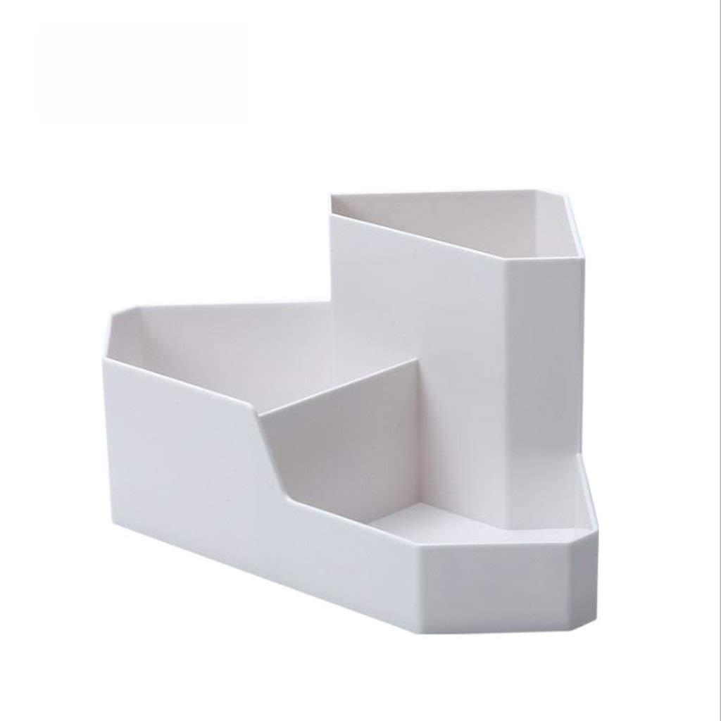 AIWO-PQ Shelf ABS Creative Desktop Corner Storage Box for Home Remote Control Jewelry Finishing Box (Color : White)