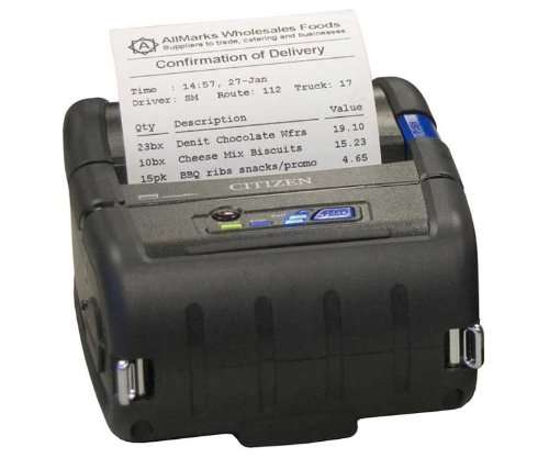 Citizen Receipt Portable Printers - Citizen CMP-30 MOBILE RECEIPT PRINTER 3IN USB SER & BLUETOOTH I/F