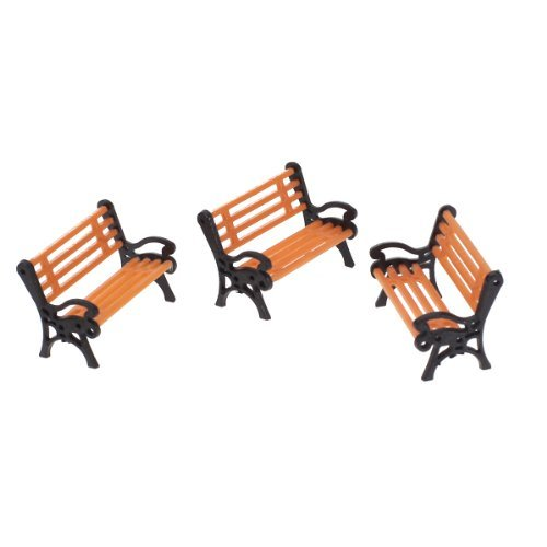 (Patio Benches - 5pcs Plastic Model Park Bench Landscape 1 50 W Black Arm - Chaboute Commercial Resin Landscaping Plans Seat Feet Clearance Backdrop Prop Benches Cushions Covers Chair Hardware Ap)