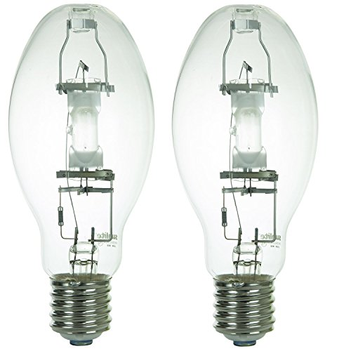 Sunlite MH250/U/MOG 250-Watt Metal Halide ED28 Bulb, Mogul Base, Clear (250 Watts 2 Pack)