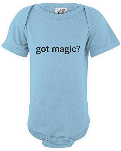 shirtloco Baby Got Magic Infant Bodysuit, Light Blue 12 - Light Orlando Magic