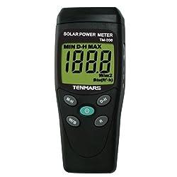 Tenmars TM-206 BTU Solar Power Meter W/M2 Radiation Energy Cell Sensor Tester