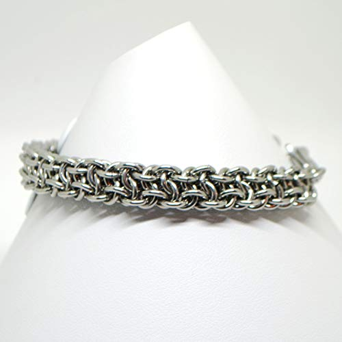 - Stainless Steel Bracelet Viper Berus Chainmail Weave (can be sized) Gift for Woman or Man