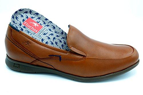 Fluchos 9762 Vacheta Cuero - Zapato de verano sin cordones, plantilla extraible.