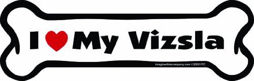 Imagine This Bone Car Magnet, I Love My Vizsla, 2-Inch by 7-Inch