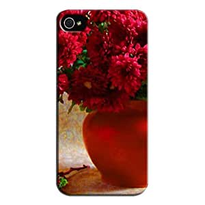 Fashion Design Protection For Iphone 5/5s Protective Hard Case Red Lh251Lko