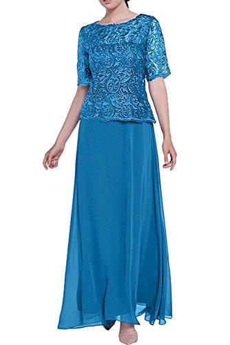 Kleider Lang Spitze Kleider La Blau Abendkleider Braut Blau Brautmutter Marie Jugendweihe mit Rock Damen Navy AwqP7xfn0w
