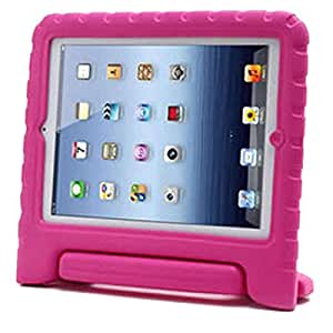 Pink Kids Safe Thick Foam Shock Proof Handle Case Cover for Apple iPad 4