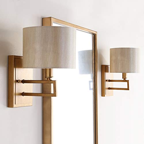 Gold Two Antique Light (Safavieh Lighting Collection Catena Antique Gold 9.5-inch Wall Sconce (Set of 2))