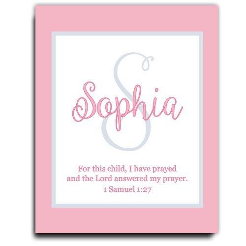 Girls Wall Art | Girl Monogram | Baby Girl Gift | Personalized Baptism Gift | Christening Gift | Religious Gift | Christening Present | Baptism Present | First Communion