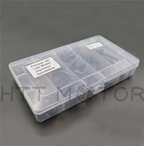 Windscreen Spikes (SMT MOTO- Motorcycle Spike Fairing windscreen Bolts kits For Suzuki GSXR600 750 1000 Hayabusa Black)