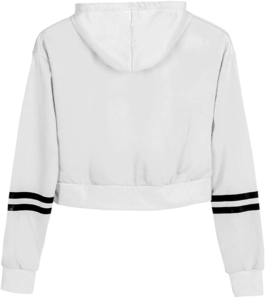 Cathalem Women Hoodies Sweatshirt Cartoon Printed Long Sleeve Shirt Pullover Crop Tops Sweaters Blouse
