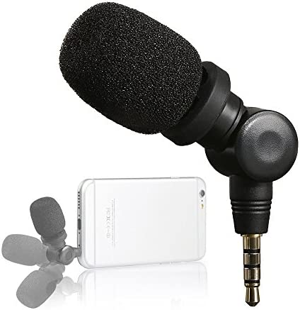 Saramonic Mini Smartmic Directional Microphone for Smartphones,Vlogging Microphone for iPhone and YouTube Video,mic for Apple iPhone 7 7s 8 x Plus 6 6s 5 5s iPad and Android