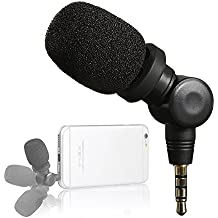 Saramonic Mini Smartmic Directional Microphone for SmartPhones ,Vlogging Microphone for iphone and YouTube video ( Wind Muff included)