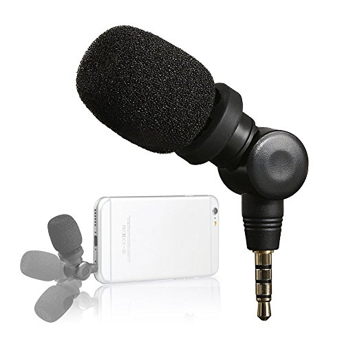 Saramonic Mini Smartmic Directional Microphone for Smartphones,Vlogging Microphone for iPhone and YouTube Videomic for Apple iPhone 7 7s 8 x Plus 6 6s 5 5s iPad and Android