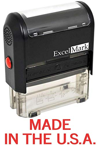 - Made in The USA - ExcelMark Self-Inking Rubber Stamp - A1539 Red Ink