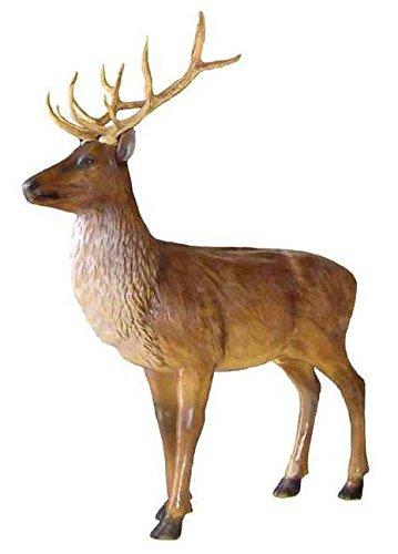 Cervo Sika Scultura per Animali Home Decor o Statua da Giardino allaperto Size : Large in Resina