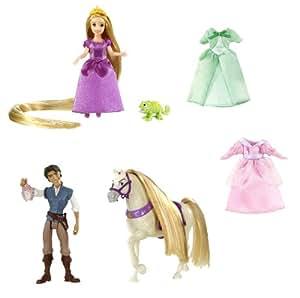 Mattel T7566 Princesas Disney - Juego de figuras y vestidos de Rapunzel