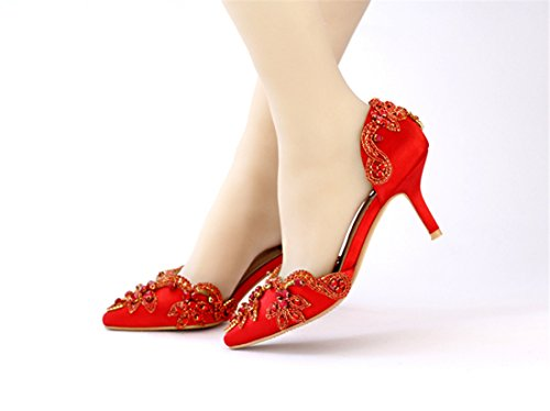Bridal orsay Shoes Women's LL177 10cm Miyoopark Pumps Bridesmaid Wedding Heel Red Evening D fzFHq1nW