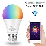 WIXANN Smart WiFi Bulb, RGBCW Wi-Fi LED Bulb A19[7W 600LM] Dimmable Multicolored Lights, No Hub Required, Compatible with Alexa and Google Home, 60W Equivalent (1 Pack) For Sale