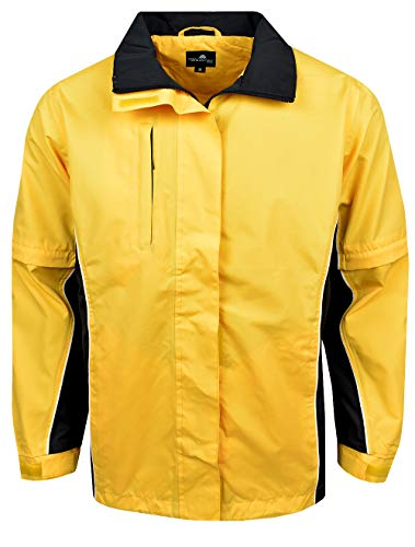 The Weather Company Womens Microfiber Rain Jacket Yellow/Black L