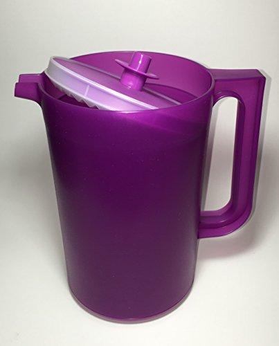 Tupperware Push Button Classic Pitcher Purple 2qt
