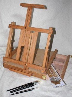 table top easel. Table Top Easel With Paint Brush Set