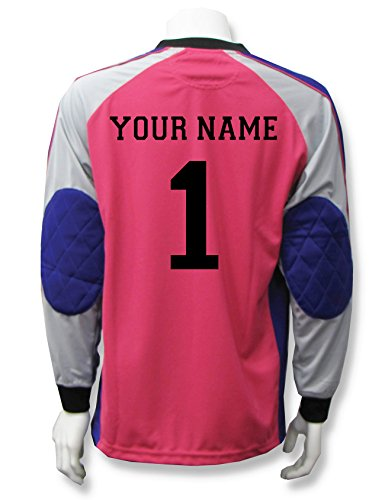 Victory long-sleeve soccer goalie jersey with your name and number - size Adult S