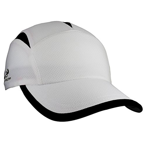 Brooks Running Hat (Headsweats Go Hat, White/Black)