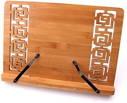 XuBa - Mesa plegable portátil de bambú, soporte para libros, atril ...