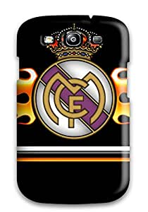 Awesome Real Madrid Fc Logo Flip Case With Fashion Design For Galaxy S3