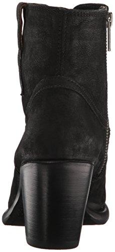 US Nubuck Boot Women's FRYE Western M Black Bootie Lillian 7 pTwnFqYxz